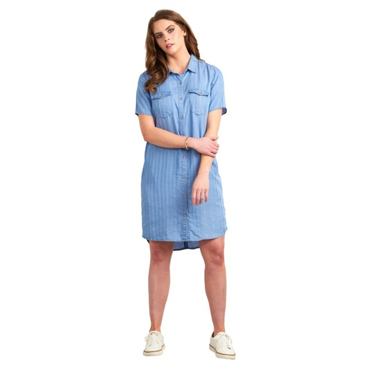 Vassalli Short Sleeve Dress With Side Panel
