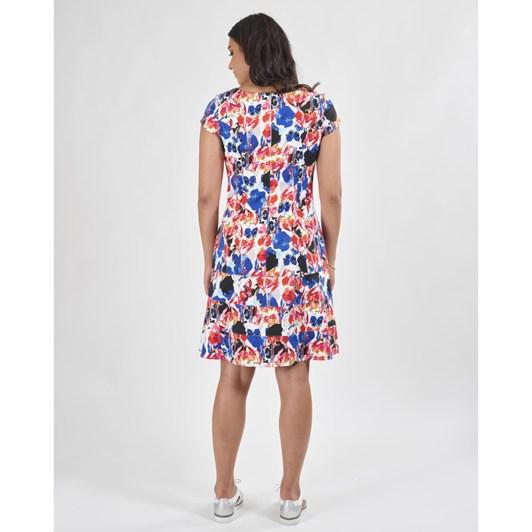 Vassalli Fit & Flare Dress With Cap Sleeve