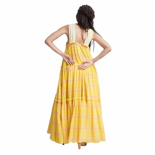 Aje Wilderness Tiered Maxi Dress
