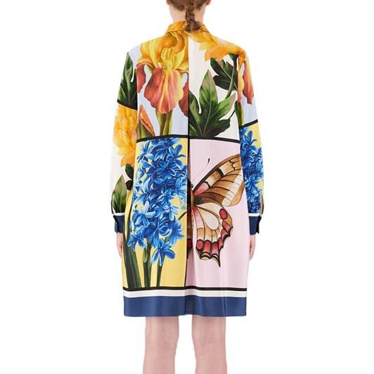 Max Mara Laccio Dress Silk