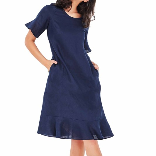 Lemon Tree Scarlet Linen Dress
