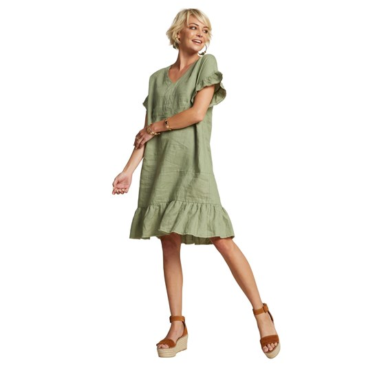 Madly Sweetly Linen The Life Tier Dress