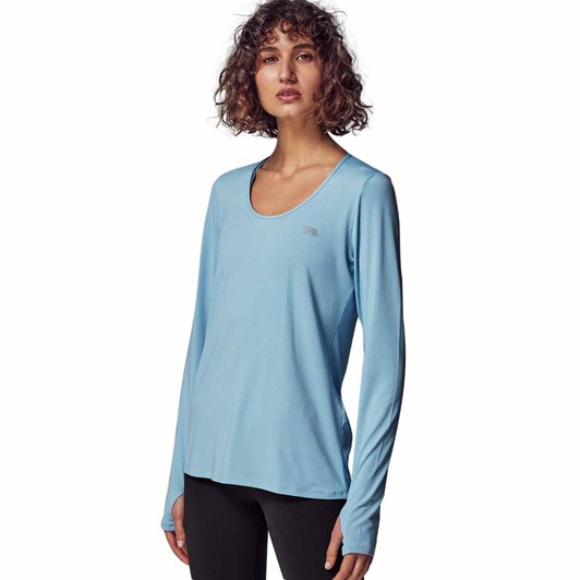 Running Bare Warm Down L/S Workout Tee With Thumb Holes
