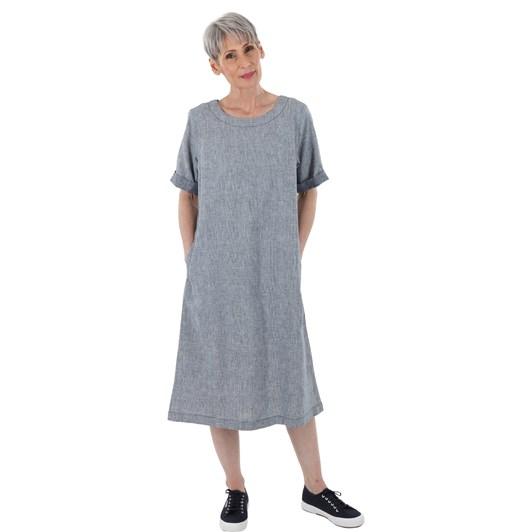 B Essentials Check Linen Dress