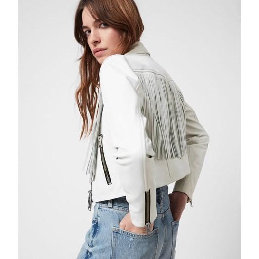 AllSaints Elora Tassel Biker Jacket