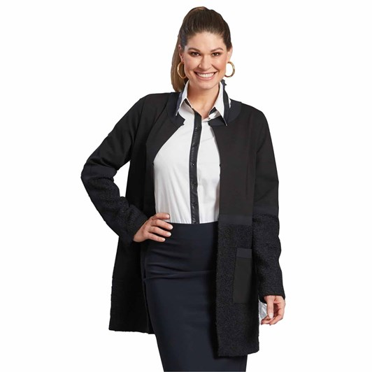 Paula Ryan Banded Boucle Coat