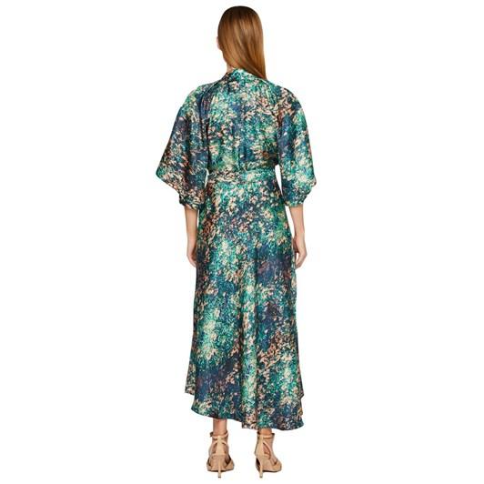 Ginger & Smart Night Grass Wrap Dress