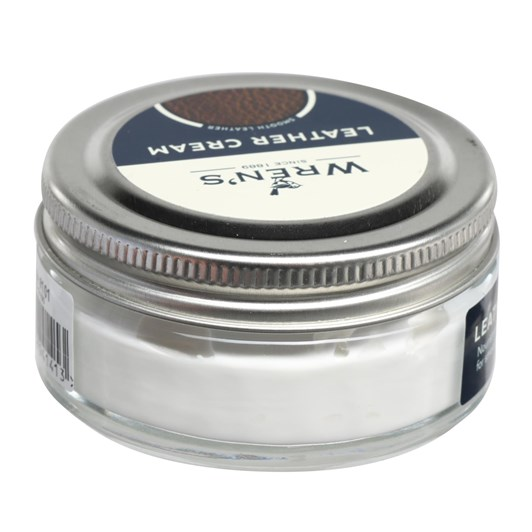 Wrens Leather Cream Jar 50Ml 101 white