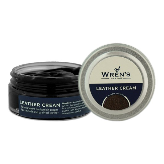 Wrens Leather Cream Jar 50ml 136 Ivory