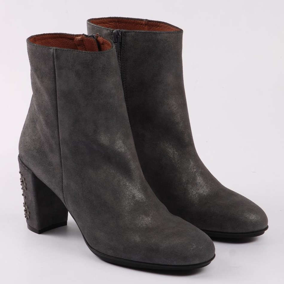 Hispanitas Ankle Boot With Studded Heel - graffito