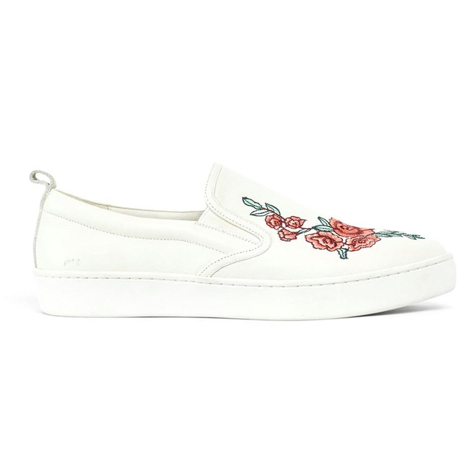 Miss Wilson Rhianna Sneaker Rose Printed Upper  - off white