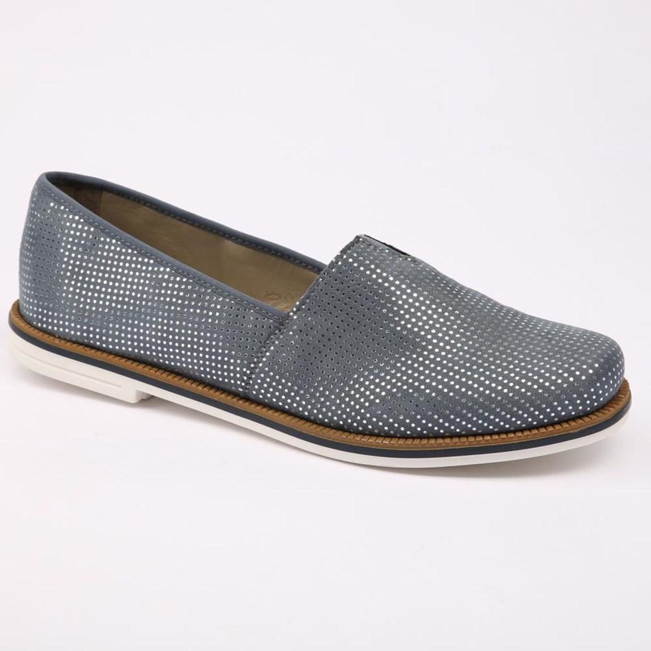 Rieker Loafer - 12 bleu silver