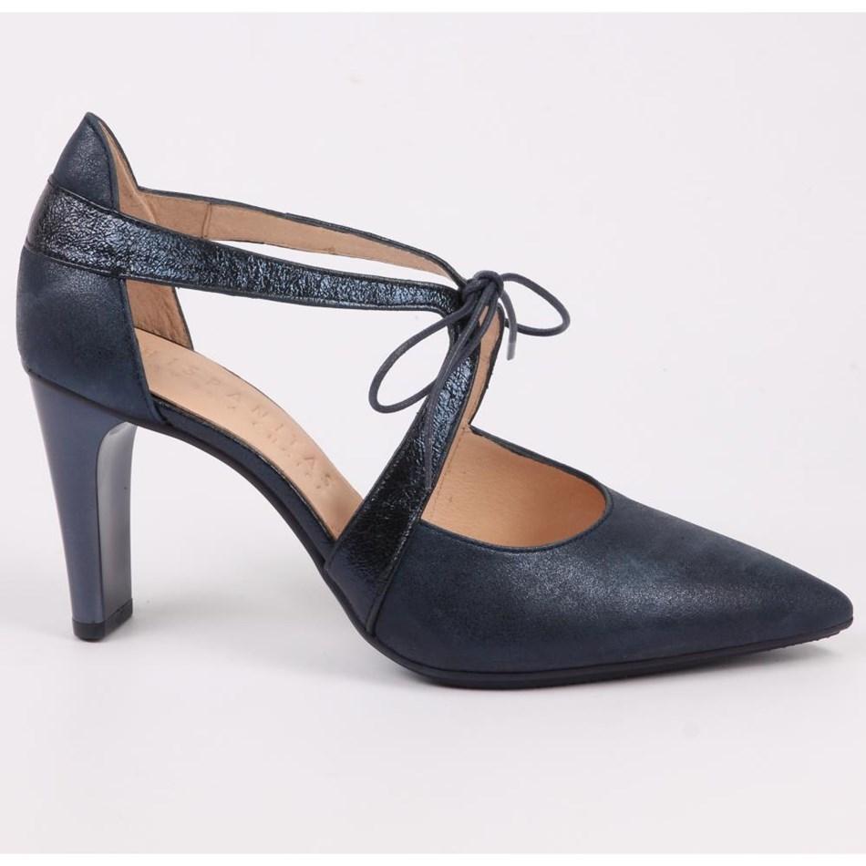 Hispanitas Point Toe Single Lace Shoe  - jeans
