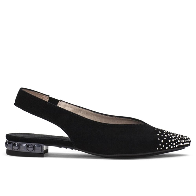 Hispanitas Slingback With Point Toe  - black