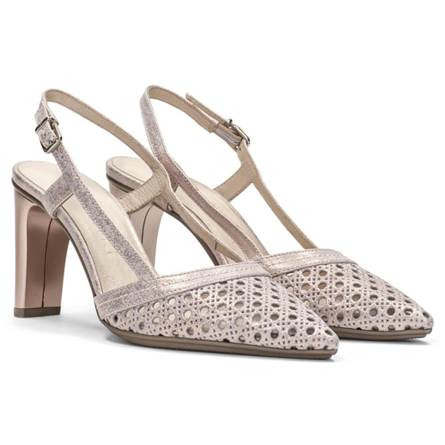 Hispanitas Slingback With Higher Heel - nude