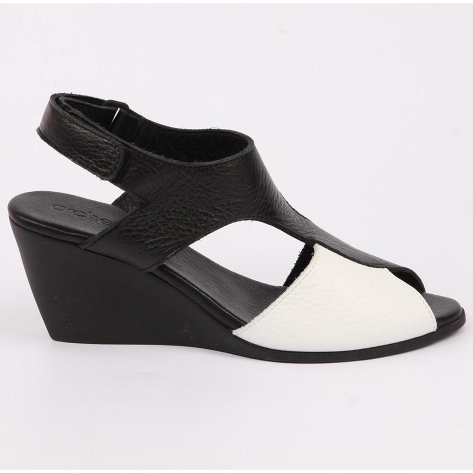 Arche  Sandal T-Bar And Slingback  - blanc noir