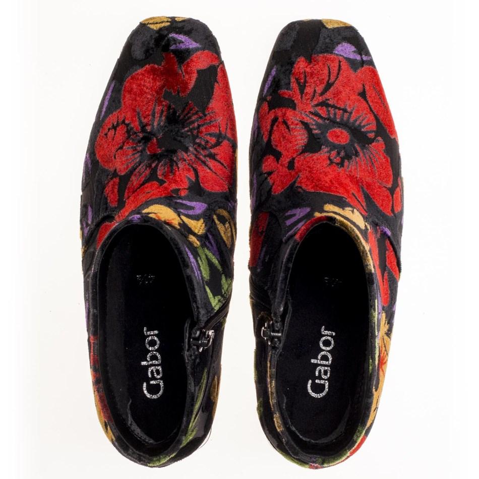 Gabor Velour Design Boot - 57 schwarz mulit