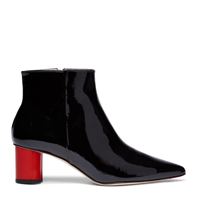 Lulu Guinness Ankle Boot - black red