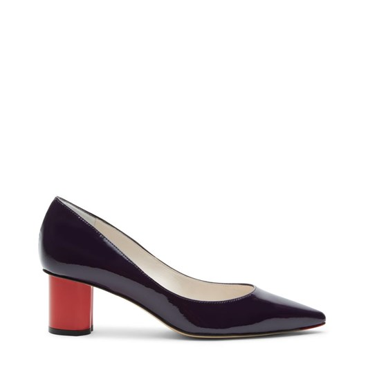 Lulu Guinness Aubergine Patent Leather Phillipa Court