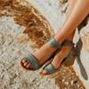 Eos Sandal With Cuban Block Heel - chiaro