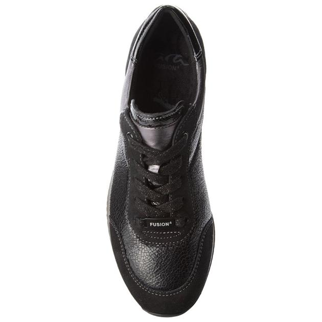 Ara Casual Panelled Shoe - black mix