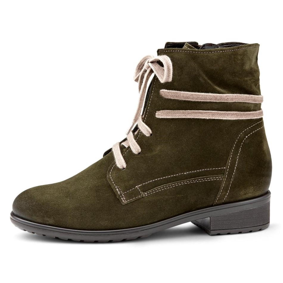 Ara Casual Lace Up Suede Bootie -