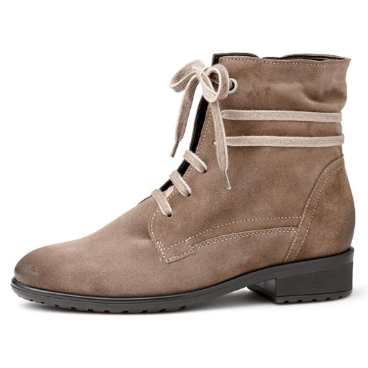 Ara Casual Lace Up Suede Bootie