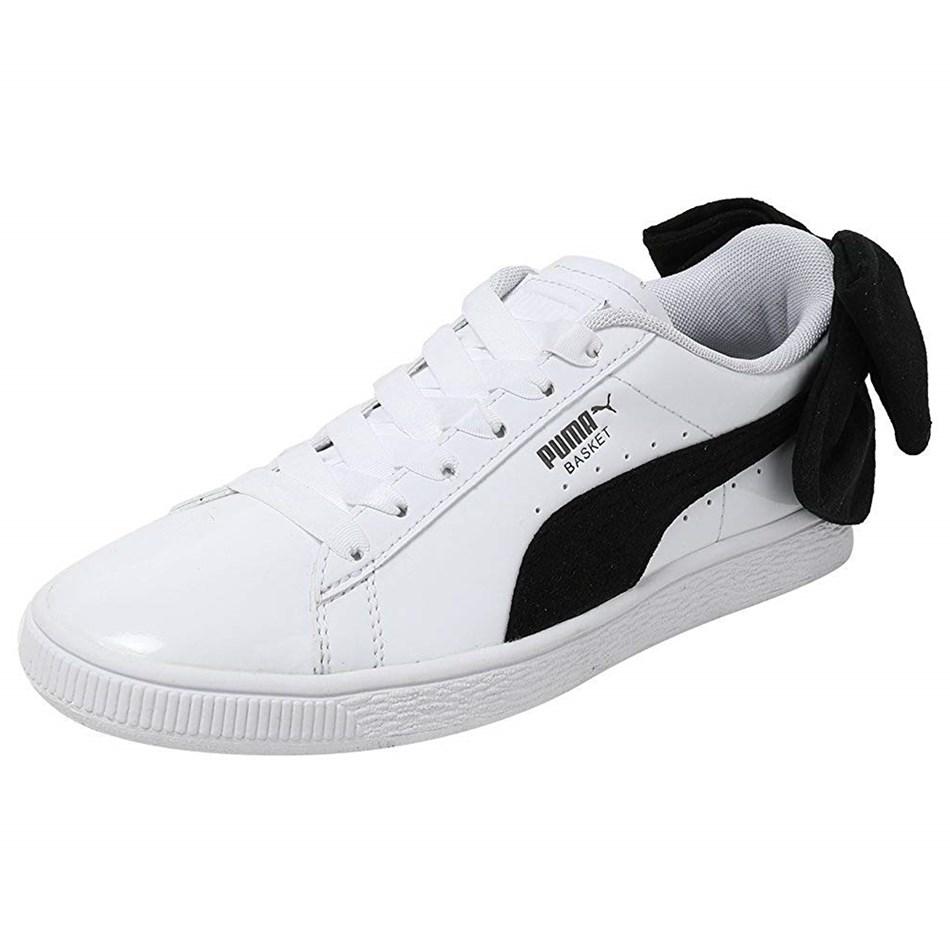Puma Basket Bow Sneakers - white black