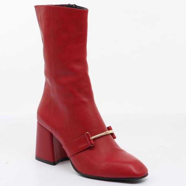 Sempre Di Knee High Heel - 200 red