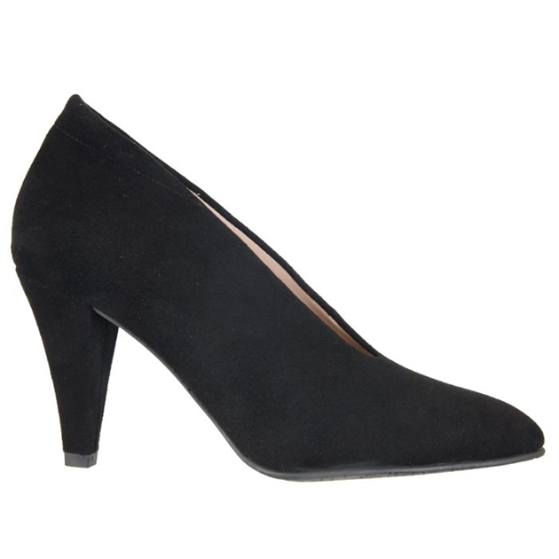 Brenda Zaro V Throat Heel - black