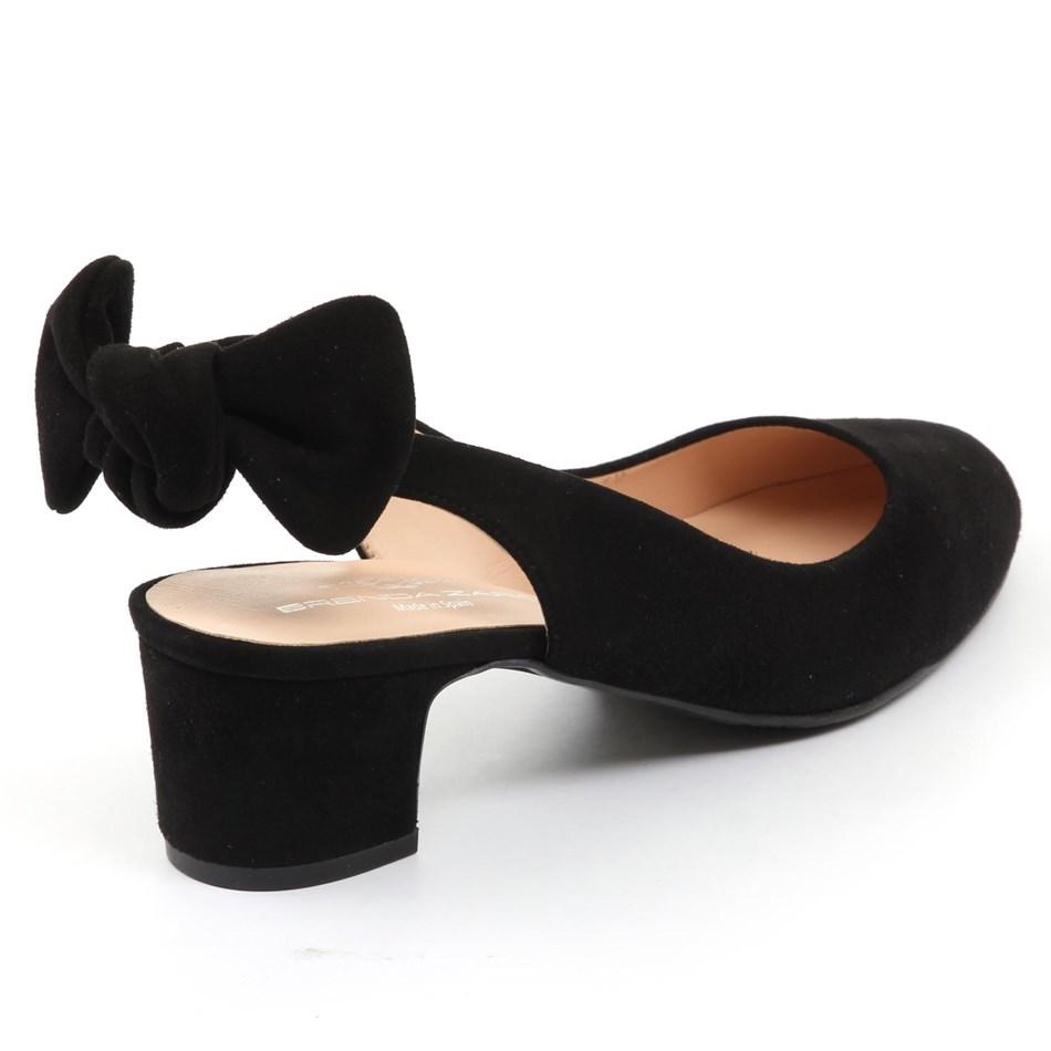 Brenda Zaro Bow Tie Back Court Heel - black