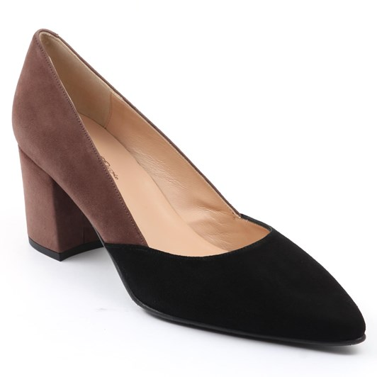 Brenda Zaro Pump With Open Waist Contrast