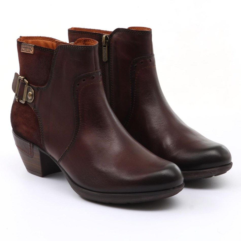 Pikolinos Ankle Buckle Boot - chocolate