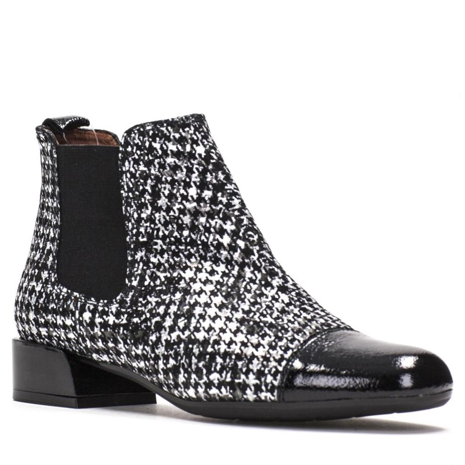 Hispanitas Houndstooth Ankle Boot - balmoral black