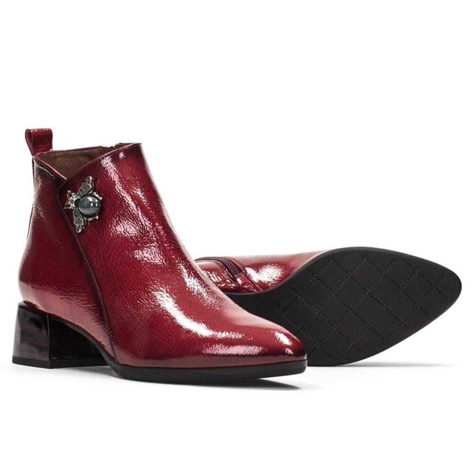 Hispanitas Ankle Boot Brooch Detail - scarlett