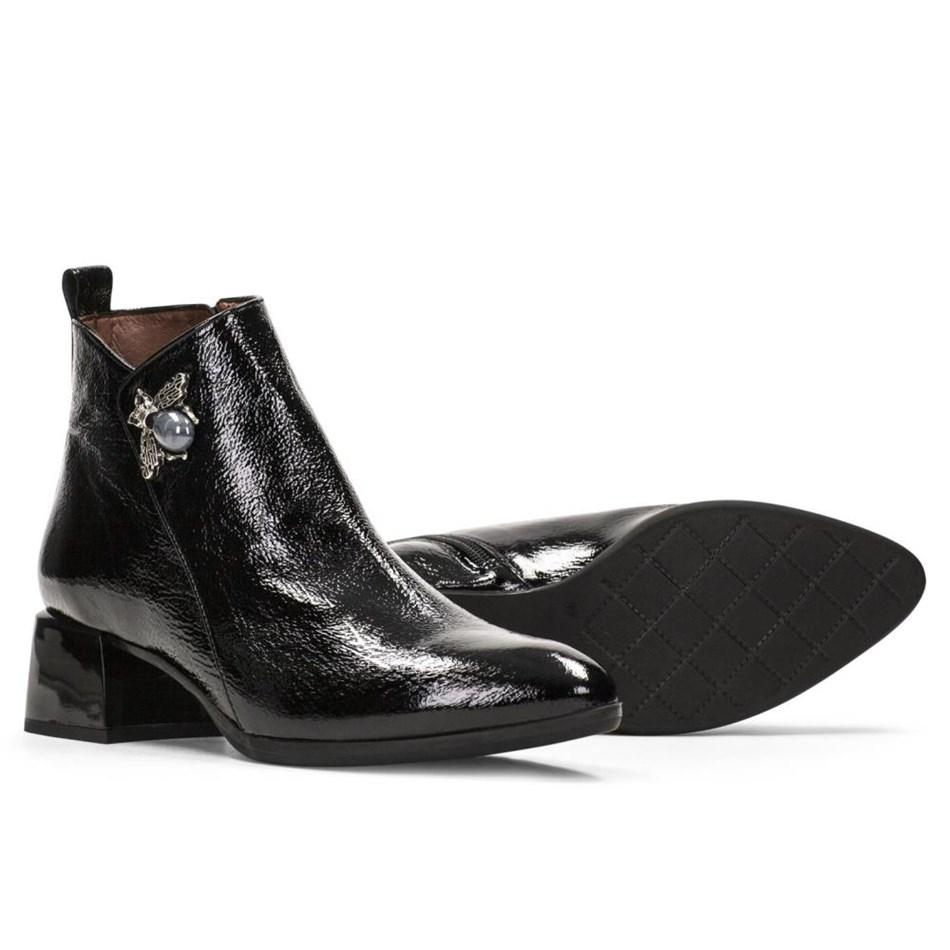 Hispanitas Ankle Boot Brooch Detail - black