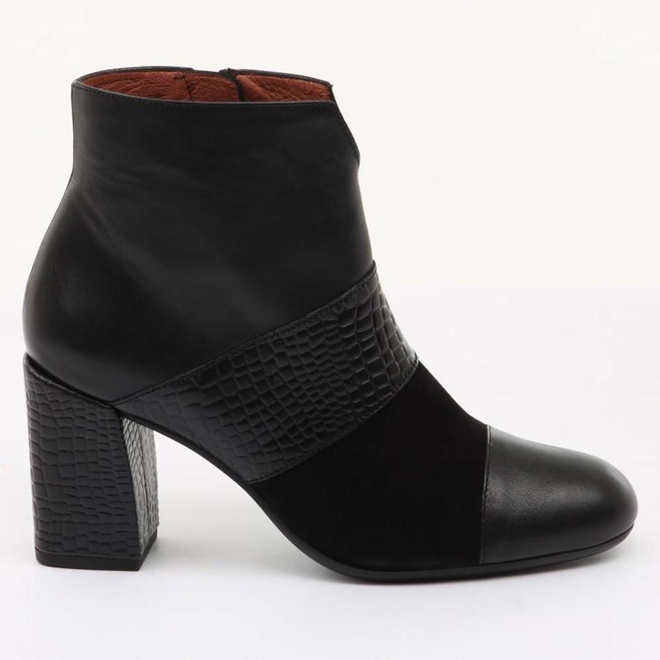 Hispanitas Patchwork Ankle Boot - black