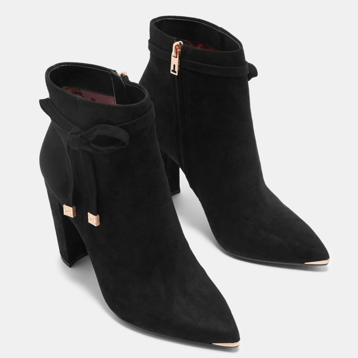 Ted Baker Qatena Heeled Ankle Boot - 00 black