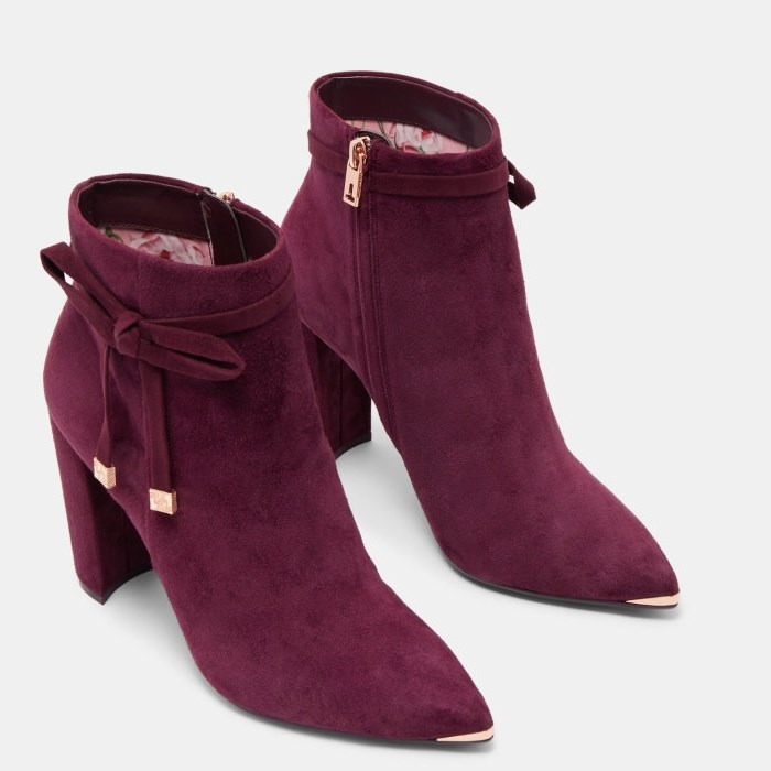 Ted Baker Qatena Heeled Ankle Boot - 60 deep purple