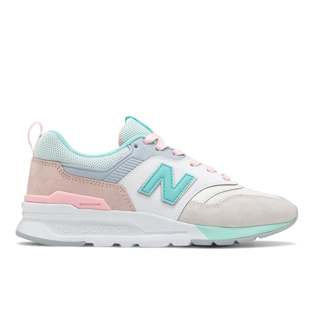 New Balance Womens 997H - white light teal