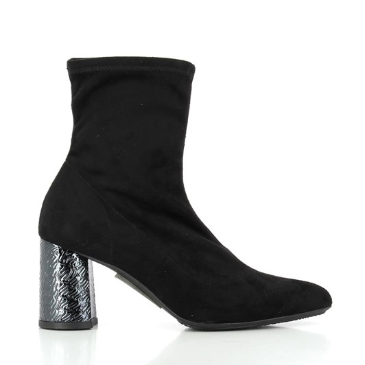 Tottetti Suede Boot Heel Detail