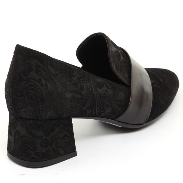 Tottetti Brocade Heel Loafer - black