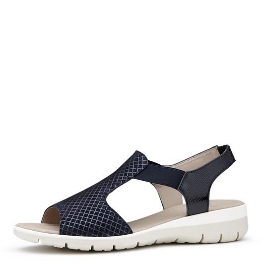 Ara Sandal With Metallic Upper