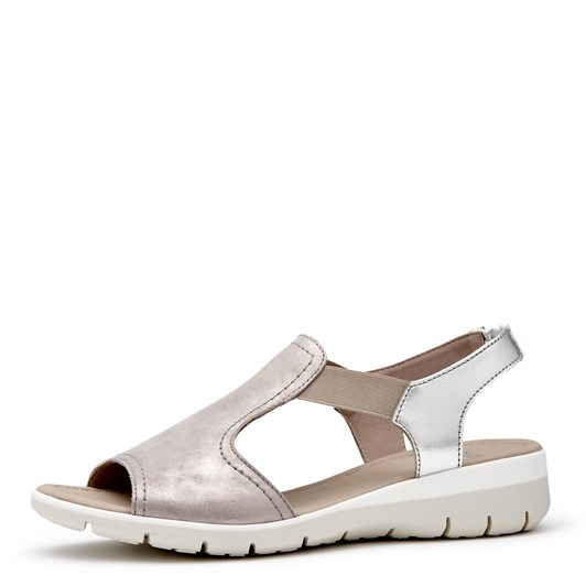 Ara Sandal With Metallic Upper