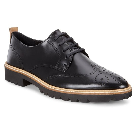 Ecco Incise Tailored Black Eternity Casual Shoe