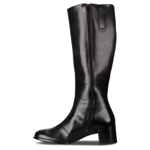 Ecco Shape 35 Block Black Dress Boots - black dress