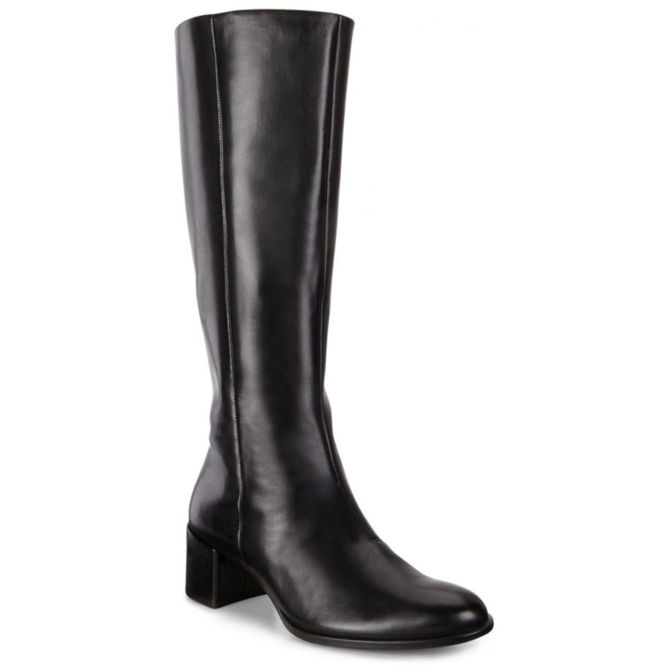 Ecco Shape 35 Block Black Dress Boots - black dress