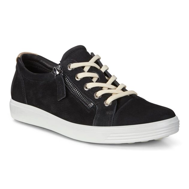 fa248a258 New In - Ecco Soft 7 W Wild Black Diffuse Casual Shoe - Ballantynes ...