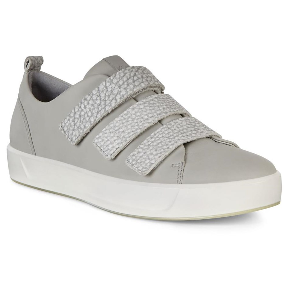 Ecco Soft 8 W Concretewild Dove Casual Shoe - concretewild dov