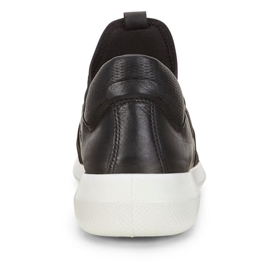 Ecco Scinapse Black/Black Racer Yak/Textile Casual Shoe -